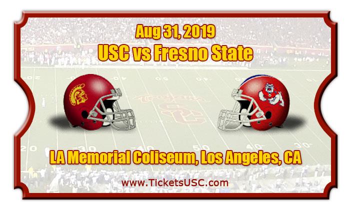 USC Trojans vs Fresno State Bulldogs Football Tickets   08/31/19